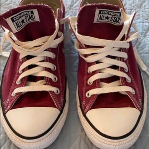 Converse Shoes - Converse Red Low Top Sneakers Mens Size 11